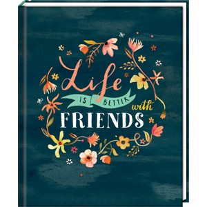 Freundebuch: Handlettering - Life is better with friends