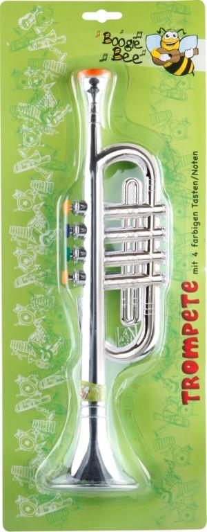 Boogie Bee Trompete silber, 4 Tasten, 38 cm