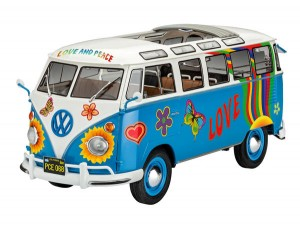 VW T1 Samba Bus Flower Power