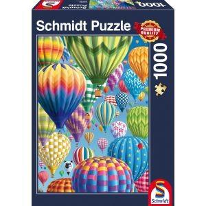 Bunte Ballone am Himmel, Puzzle 1000 Teile