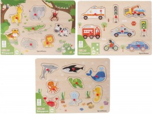 SpielMaus Holz Einlegepuzzle 7-10 Teile