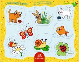 Kulleraugen-Puzzle Lieblingstiere (8 Teile)