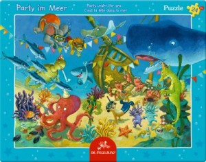 Rahmenpuzzle Party im Meer (24 Teile)
