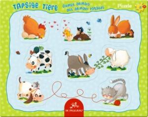 Rahmenpuzzle Tapsige Tiere (8 Teile)
