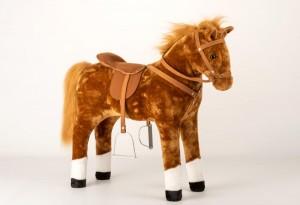 Plüsch Pferd mit Sound 70x25 cm 11472