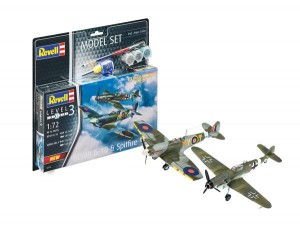 Model Set Combat Set Bf109G-10 & Spitfire Mk.V