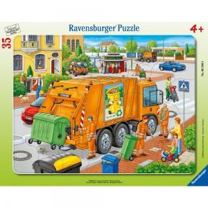 Müllabfuhr 30-48 Teile Rahmenpuzzle
