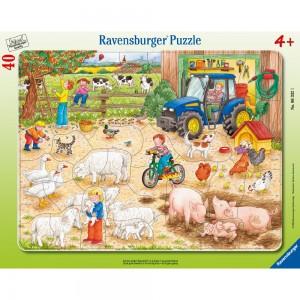 Auf dem großen Bauernhof 30-48 Teile Rahmenpuzzle