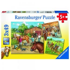 Mein Reiterhof 3 x 49 Teile Puzzle