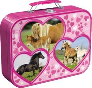 Pferde, Puzzle-Box, 2x26, 2x48 Teile im Metallkoffer