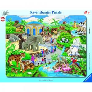 Besuch im Zoo 30-48 Teile Rahmenpuzzle