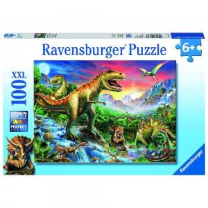 Bei den Dinosauriern 100 Teile XXL