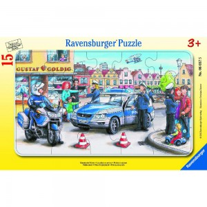 Einsatz der Polizei Rahmenpuzzle 06037 Ravensburger