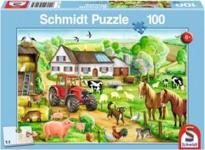 Fröhlicher Bauernhof Puzzle 100 TEILE