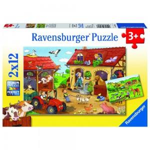 Fleißig auf dem Bauernhof 2 x 12 Teile Puzzle