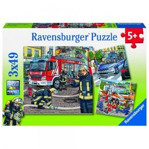 Helfer in der Not 3 x 49 Teile Puzzle