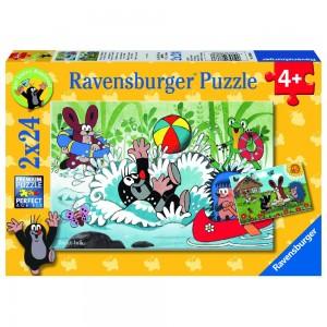 Urlaub mit Maulwurf und seinen Freunden 2x24 Teile Puzzle