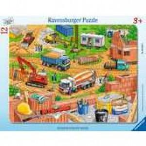 Arbeit auf der Baustelle Rahmenpuzzle 8-17 Teile