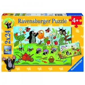 MW: Der Maulwurf im Garten 2 x 24 Teile Puzzle