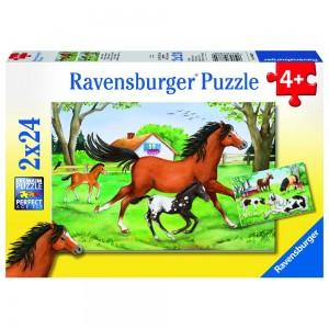 Welt der Pferde 2 x 24 Teile Puzzle
