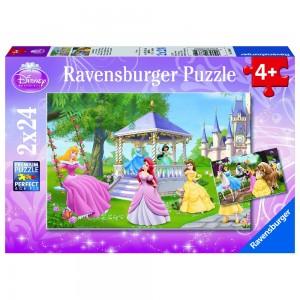 DPR: Zauberh.Prinzessinnen 2 x 24 Teile Puzzle