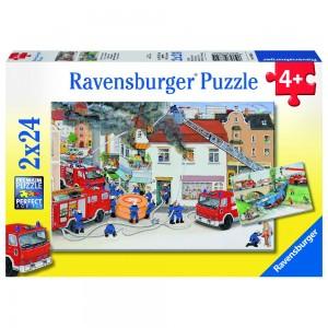 Bei der Feuerwehr 2 x 24 Teile Puzzle