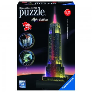 Empire State Building bei Nacht 3D Puzzle-Bauwerke