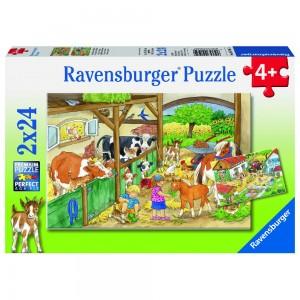 Fröhliches Landleben 2 x 24 Teile Puzzle