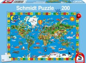 Deine bunte Erde Puzzle 200 TEILE