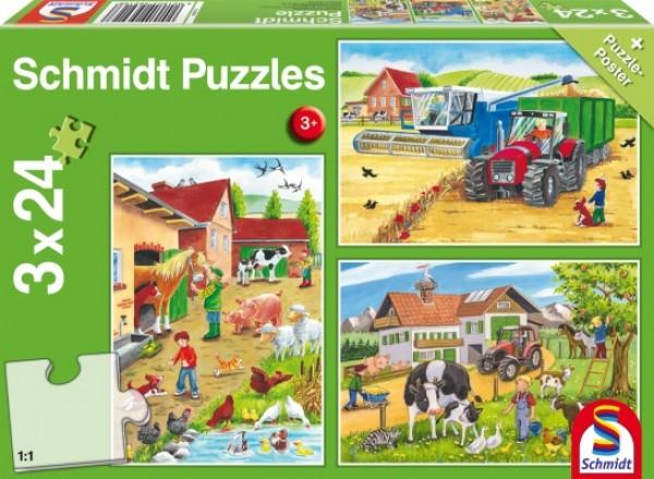 Auf dem Bauernhof Puzzle 3x24 TEILE