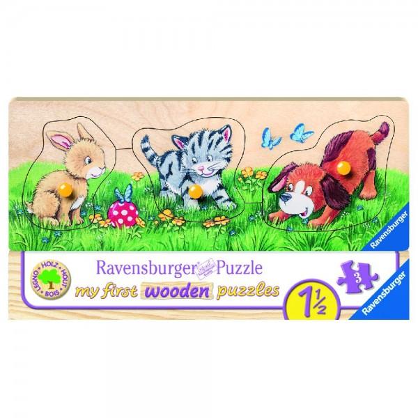 Niedliche Tierkinder Puzzle 3-5 Teile