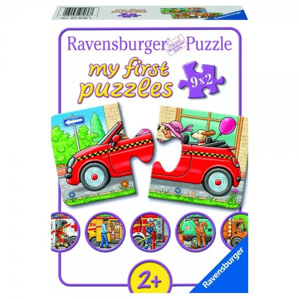 Allerlei Fahrzeuge 9x2 Teile My first puzzles