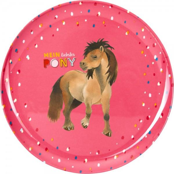 Melamin Teller Mein kleiner Ponyhof