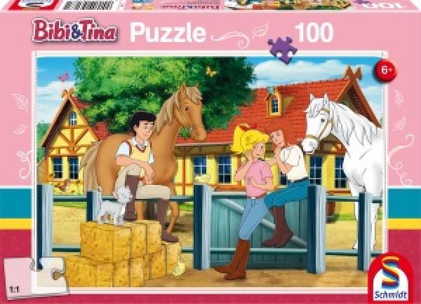 Auf dem Martinshof, Puzzle 100 Teile BIBI & TINA