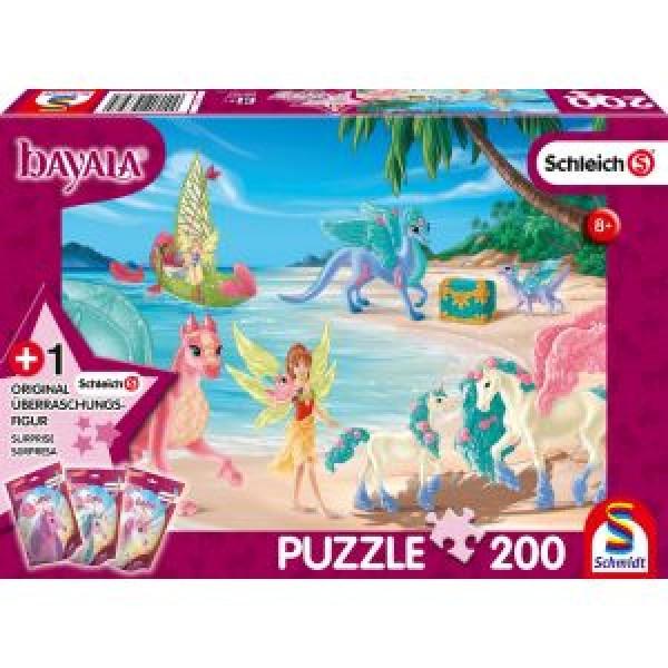 Bayala, Dracheninsel, Schleich Puzzle 200 Teile, mit Add-on (eine Original Figur)