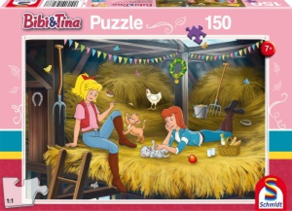 Auf dem Heuboden, Puzzle 150 Teile BIBI & TINA
